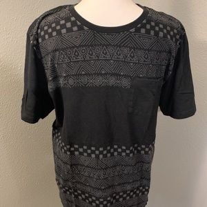 Hurley Black Patterned T Shirt